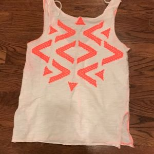 Free people white graphic neon tank top